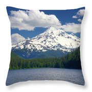 Mt Hood From Lost Lake Throw Pillow