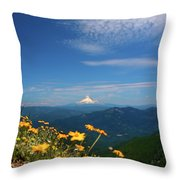 Mt. Hood In The Distance Throw Pillow