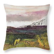 Mt Hood Mirage Throw Pillow