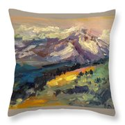Mt Hood View From Chinook Landing Throw Pillow