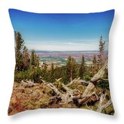 Mt. Howard, Wallowa Lake Throw Pillow