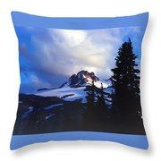 Mt. Jefferson Photograph Throw Pillow