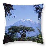 Mt. Kilimanjaro,moshi,tanzania Throw Pillow
