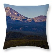 Mt Lassen And Chaos Crags Throw Pillow