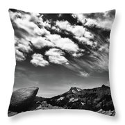 Mt. Lassen B W Throw Pillow