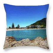 Mt Maunganui Beach 9 - Tauranga New Zealand Throw Pillow
