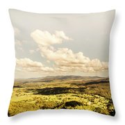 Mt Mee Vintage Landscape Throw Pillow