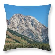 Mt Moran At The Grand Tetons Throw Pillow