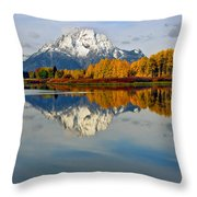Mt Moran From The Ox Bow Throw Pillow