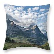Mt. Oberlin From Logan Pass Throw Pillow by Jemmy Archer