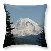 Mt Rainer From The Hills In Packwood Wa  Throw Pillow