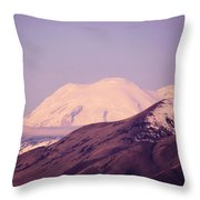 Mt Rainer From The Wenas Valley  Throw Pillow
