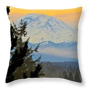 Mt. Rainier #1 Throw Pillow