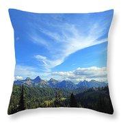 Mt. Rainier National Park Throw Pillow