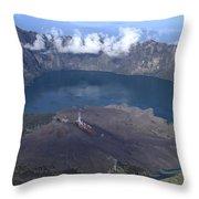 Mt Rinjani Throw Pillow