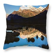 Mt Rundle Throw Pillow
