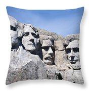 Mt Rushmore Throw Pillow
