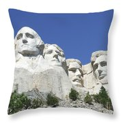 Mt. Rushmore Throw Pillow