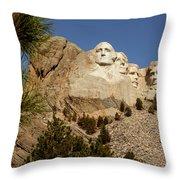 Mt Rushmore II Throw Pillow