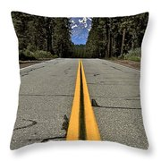 Mt Shasta California Throw Pillow