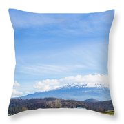 Mt Shasta Throw Pillow