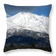 Mt. Shasta Photograph Throw Pillow