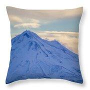 Mt. Shasta Snow Drifts Throw Pillow