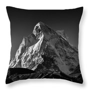 Mt Shivling Above Tapovan Throw Pillow