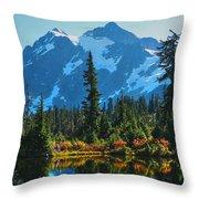 Mt. Shuksan Throw Pillow