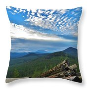 Mt. St. Helens And Red Mountain Throw Pillow