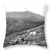 Mt Tam From The Tiburon Hills 1975 Throw Pillow