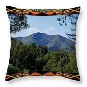 Mt Tamalpais Framed 1 Throw Pillow