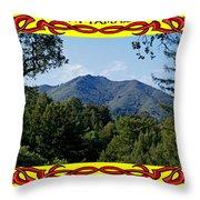 Mt Tamalpais Framed 4 Throw Pillow