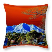 Mt Tamalpais From Another World Throw Pillow