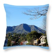 Mt Tamalpais View From Mill Valley Throw Pillow