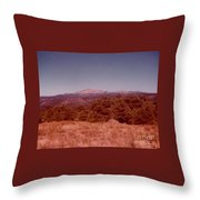 Mt Taylor In New Mexico  Throw Pillow