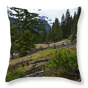Mt. Trails Throw Pillow