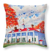 Mt. Vernon East Front In Fall Throw Pillow
