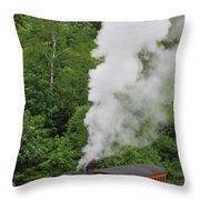 Mt Washington Cog Railroad Throw Pillow