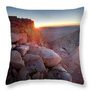 Mt Whitney And Pinnacles Sunrise - John Muir Trail Throw Pillow