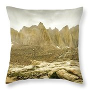 Mt Whitney Sierra Basecamp Throw Pillow
