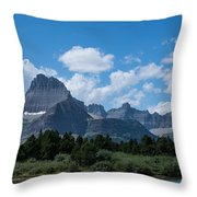 Mt Wilbur In Glacier National Park Throw Pillow