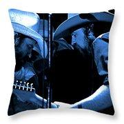 Mtb77#34 Enhanced In Blue Throw Pillow