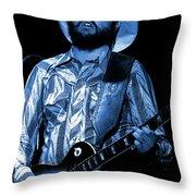 Mtb77#50 Enhanced In Blue Throw Pillow