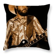 Mtb77#67 Enhanced In Amber Throw Pillow