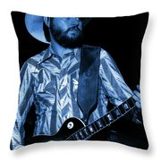 Mtb77#67 Enhanced In Blue Throw Pillow