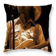 Mtb77#91 Enhanced In Amber Throw Pillow