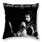 Mtbspo79 #50 Enhanced Bw With Text Throw Pillow