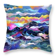Mts. In The Sea Throw Pillow
