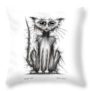 Mucky Cat Throw Pillow